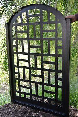 Metal Gate Contemporary Modern Pedestrian Walk Thru Entry Garden Wrought Iron
