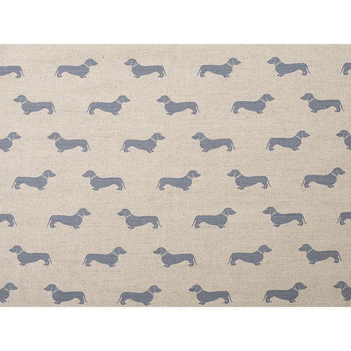 Buy Emily Bond Dachshund Furnishing Fabric, Blue Online at johnlewis.com
