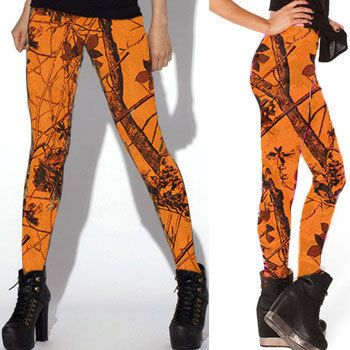 Southern Sisters Designs - Orange Camouflage Leggings- By Huntress Brand, $19.95 (http://www.southernsistersdesigns.com/orange-camouflage-leggings-by-huntress-brand/)