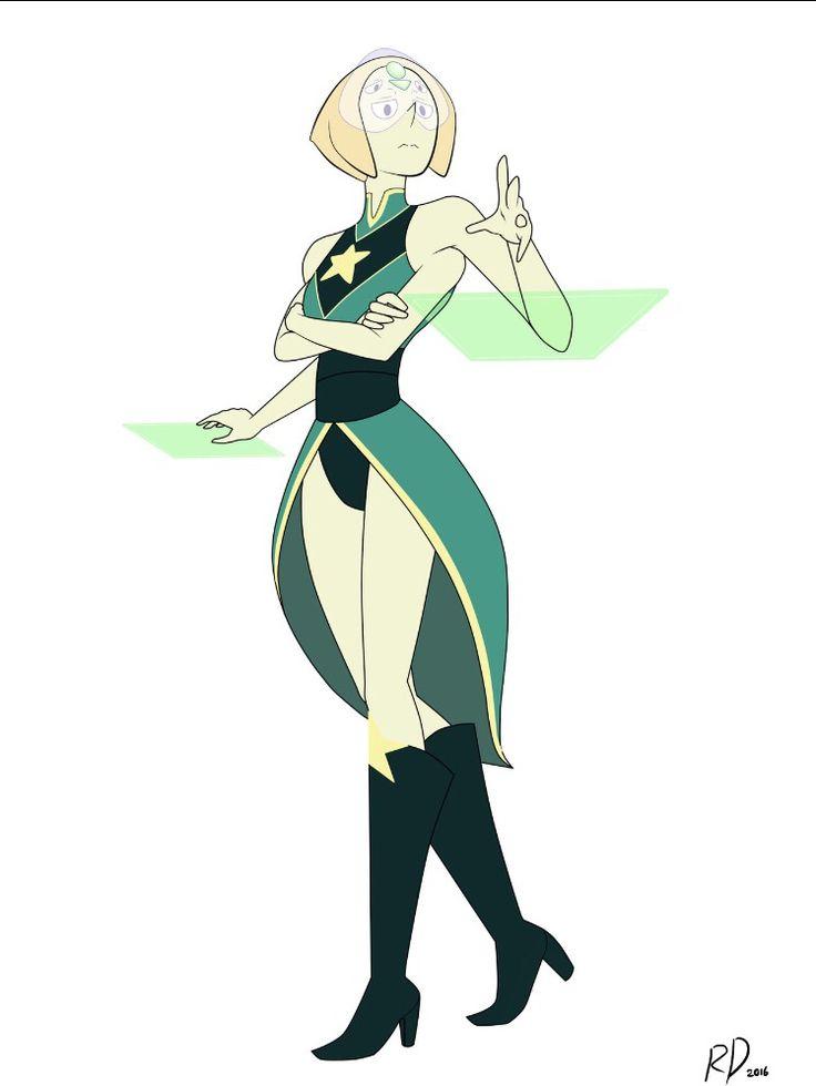 Pearl + peridot