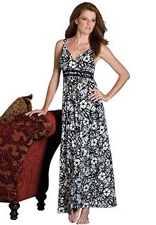 It's a nightgown!!! I'd wear it all day long.Prints Empire, Size Long, Plus Size, Woman, Long Prints, Dresses, Knits Gowns, Style Pinboard, Empire Knits