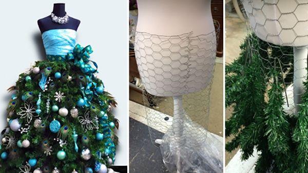 Πώς να φτιάξετε ένα ξεχωριστό Χριστουγεννιάτιο Δέντρο από κούκλα μοδιστρικής