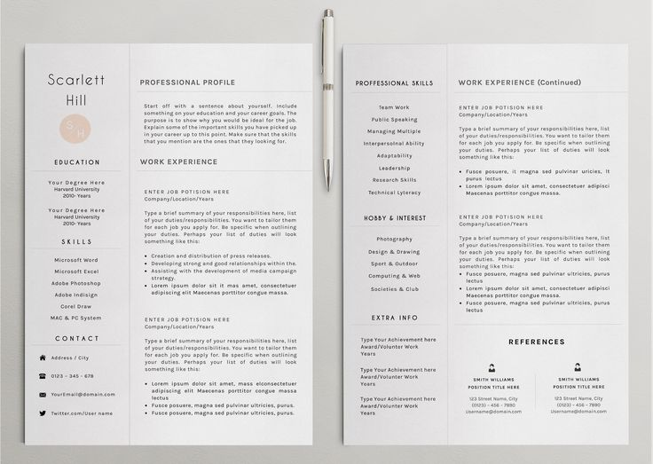 61 best Resumes\/CV images on Pinterest Curriculum, Resume and - resume action words harvard
