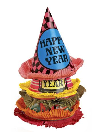 Vintage New Year's Hats: What Is It? What Is It Worth? Professional appraiser Helaine Fendelman identifies and evaluates your collectibles and antiques. BURCU AVSAR   These festive New Year's party hats — checkerboards and stripes — were manufactured c. 1960 by the Clever Idea Co. of Brooklyn, N.Y. The cone-shaped cardboard hats feature ruffled crepe-paper fringe.   What Is It?   New Year's decorations and accessories gained in popularity in the 1920s. Items produced included nois...