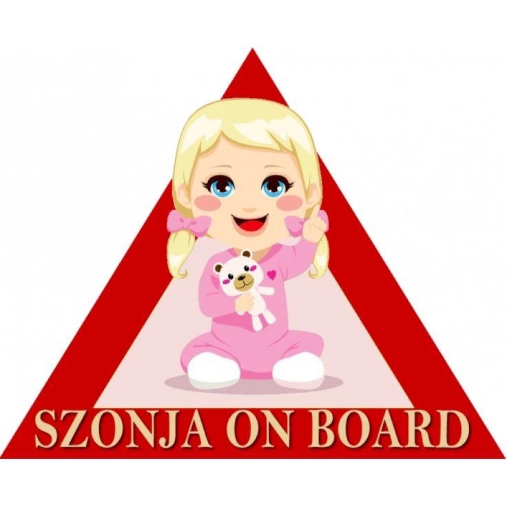 Baby on board kislány