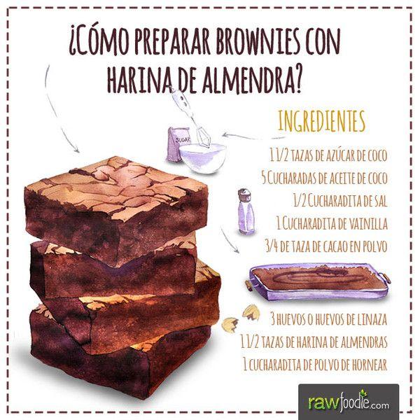¡Prepara Brownies de Chocolate con Harina de Almendras! - Raw Foodie