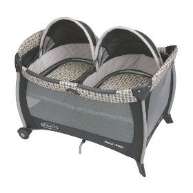 If i ever have twins :) Graco Pack 'N Play with Twins Bassinet, Vance, (twins, baby, play yard, gear, double stroller, infant car seat, twin stroller)