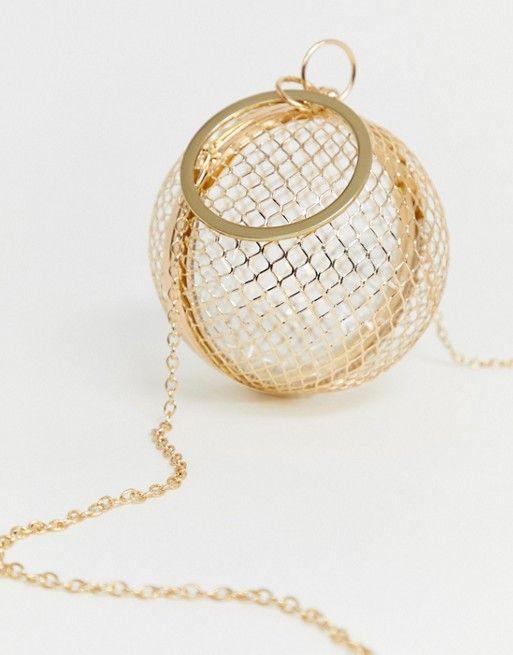 45e7524a2b5 DESIGN cage sphere clutch bag in 2019 | splurge | Clutch bag, Asos ...
