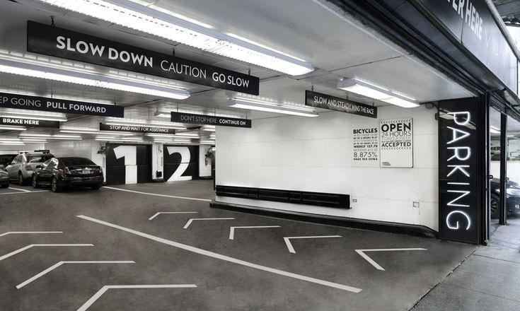 Road Arrows, Parking at 13-17 East 54th Street, Cohen Bros. Realty, Pentagram
