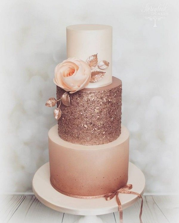 Wedding Cake Trends – 20 Metallic Wedding Cakes