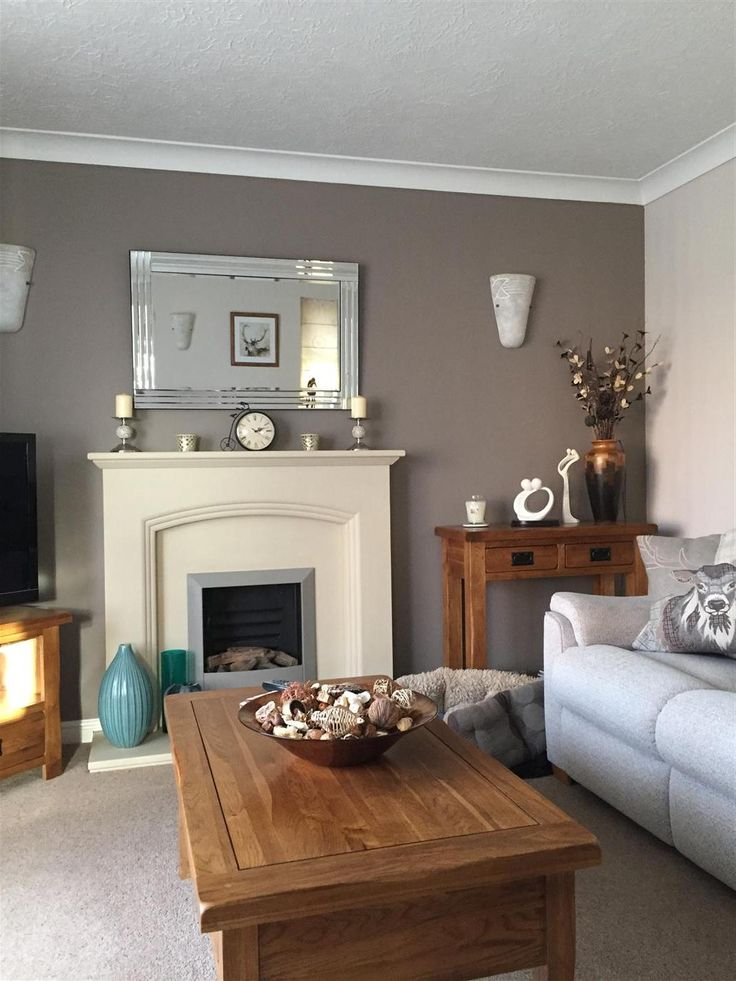 An inspirational image from Farrow & Ball. This is my living room painted in Charleston Gray and Skimming Stone. I love it! It is so warm and cosy.