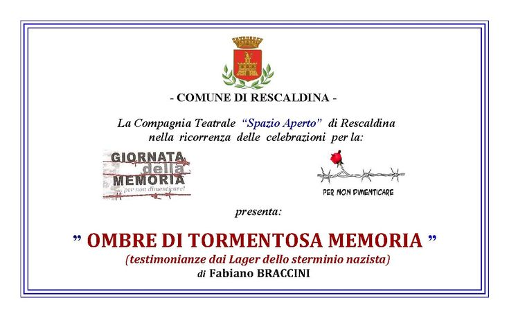 "Scadenza 30.1.2016 - ""Ombre di Tormentosa Memoria"""