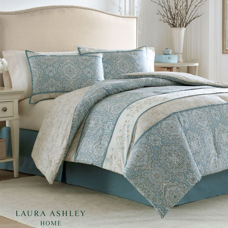 Ardleigh Medallion Comforter Bedding by Laura Ashley Bed