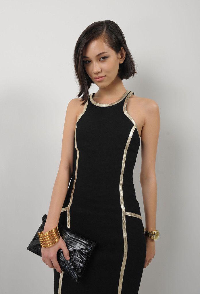 Kiko Mizuhara, asymmetrical bob