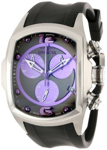 Invicta Men's 0576 Lupah Chronograph Grey Dial Black Polyurethane Watch by Invicta, http://www.amazon.ca/dp/B004NCJ96W/ref=cm_sw_r_pi_dp_ZxQ3rb0G8RC60