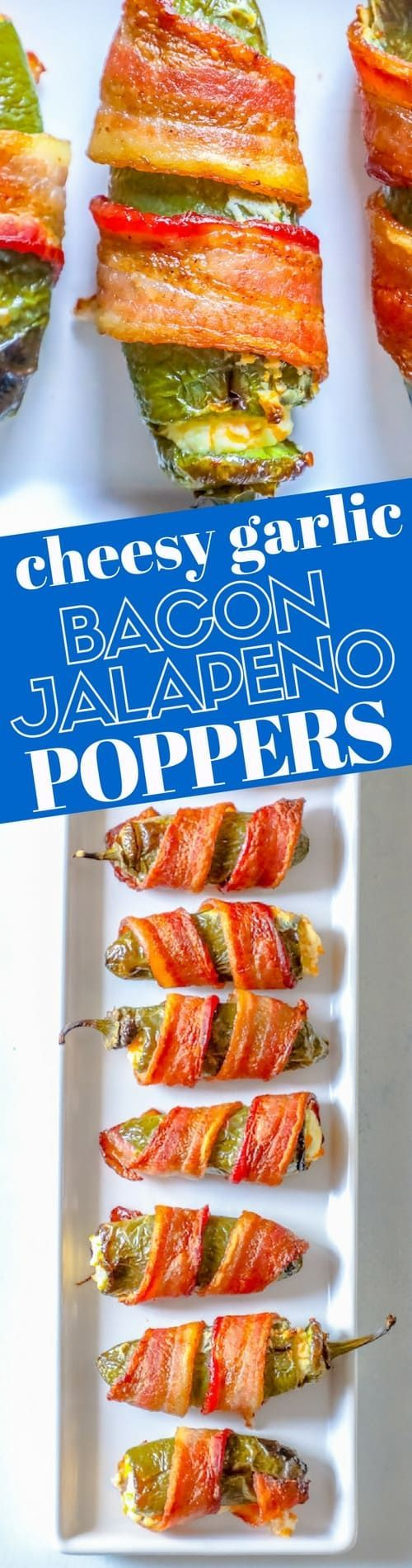 Bacon Wrapped Cheddar and Garlic Jalapeno Poppers ⋆ Sweet C's Designs