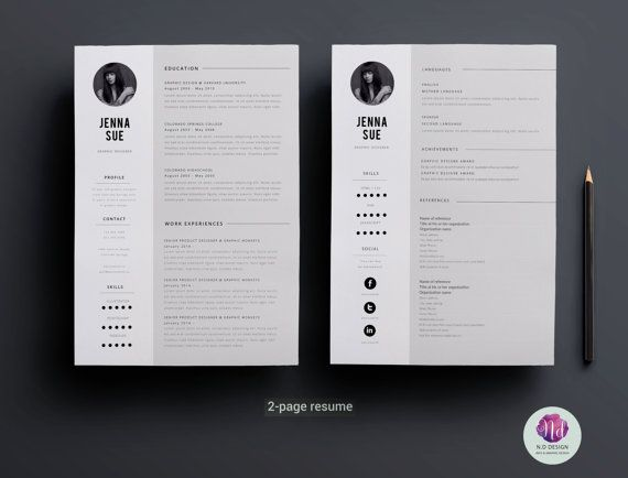120 Best Resume Designs Images On Pinterest | Resume Templates, Cv