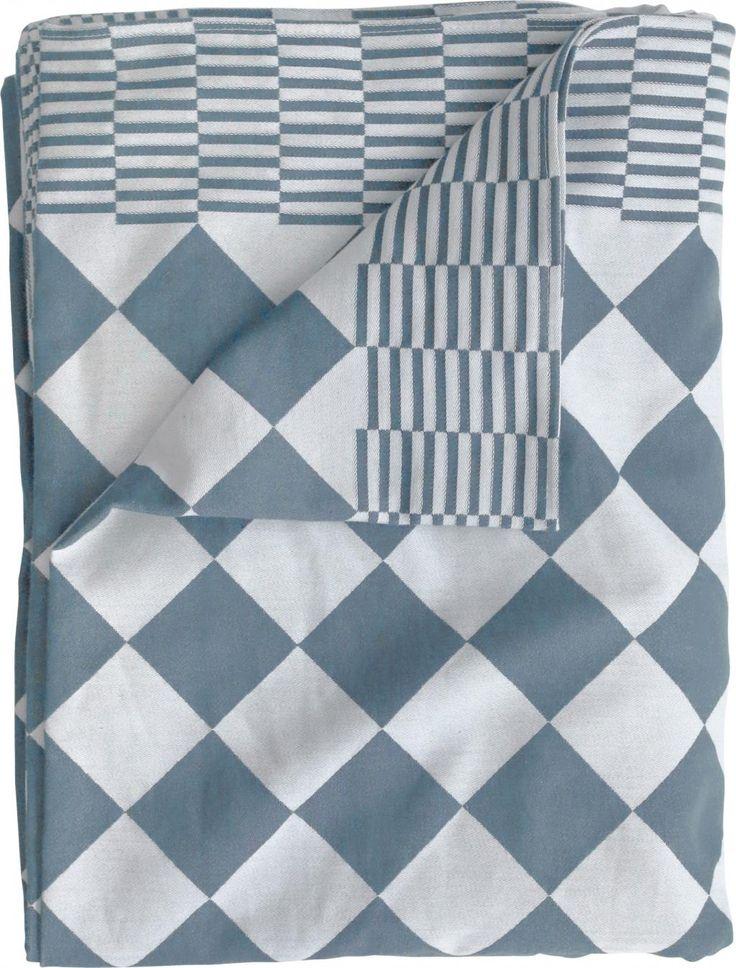 Tafelkleed - traditioneel dutch - geweven katoen - 140x200 - blauw - HK Living