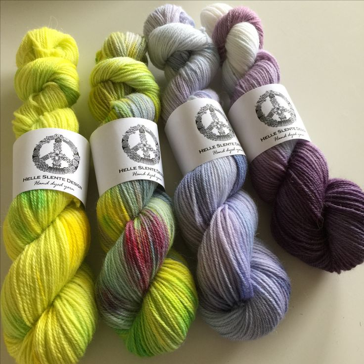 Lovely lilacs and lime colours in a wool/alpaca blend | hand dyed yarn