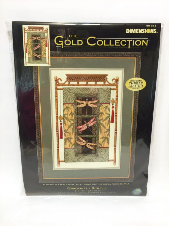 Dimensions Cross Stitch Kit Dragonfly Scroll The by UpstairsAttic