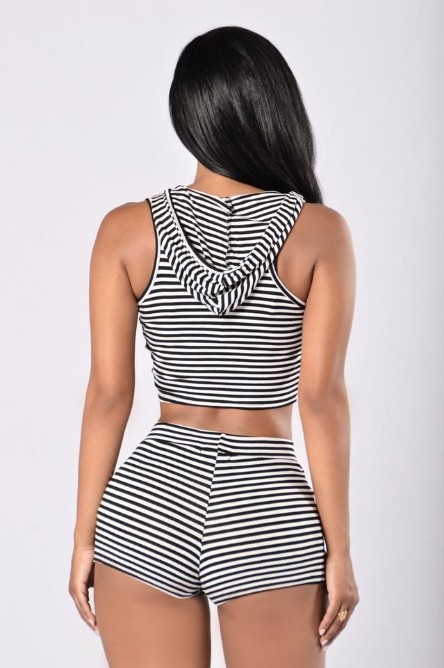 Bring It On Again Top - Ivory/Black
