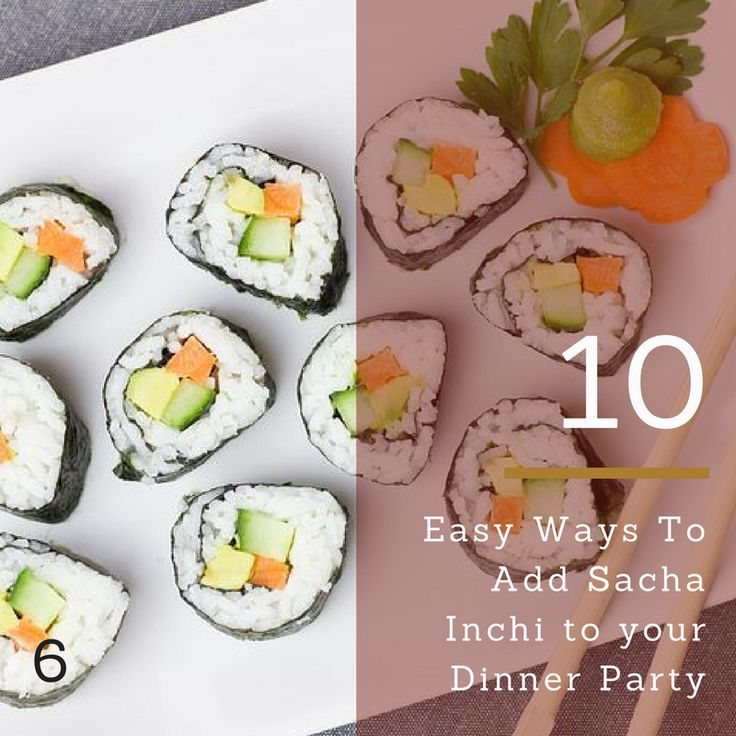 Vegan sushi is a perfect dish to add a little Sacha Inchi Oil as you roll the Sushi. A great plant source of Omega 3,6,9.
