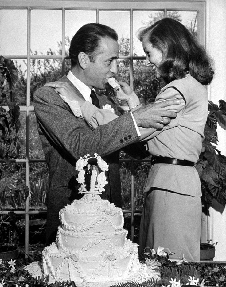 Humphrey Bogart and Lauren Bacall, May 21, 1945