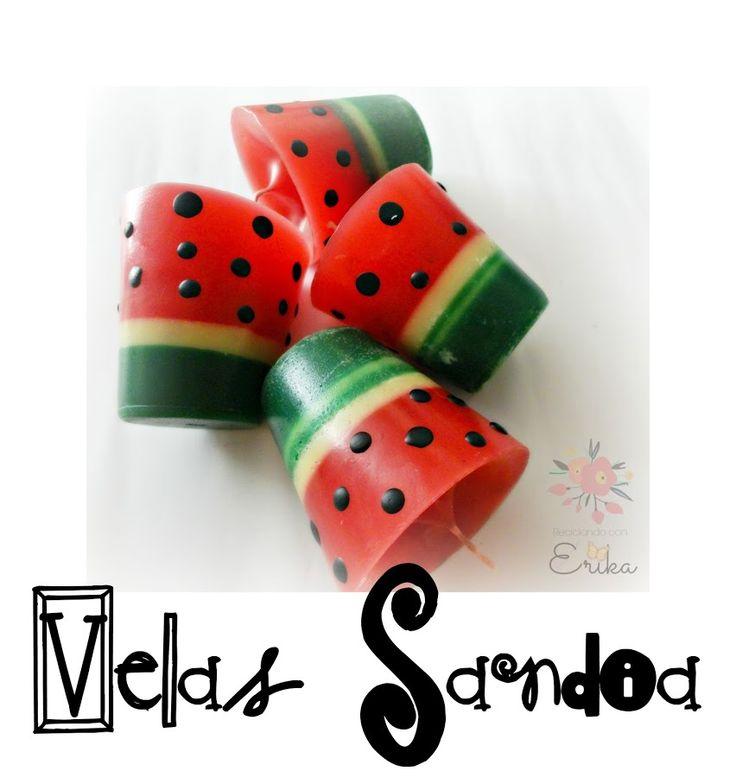 Velas Sandía | Manualidades