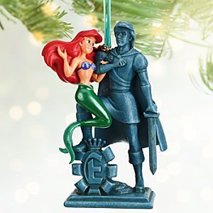 Disney Ariel and Prince Eric Sketchbook Ornament | Disney StoreAriel and Prince Eric Sketchbook Ornament - Little Mermaid Ariel adores her fantasy Prince Eric's handsome sunken statue for this romantic fully-sculptured ornament. On your holiday tree, she'd like to be part of his world.