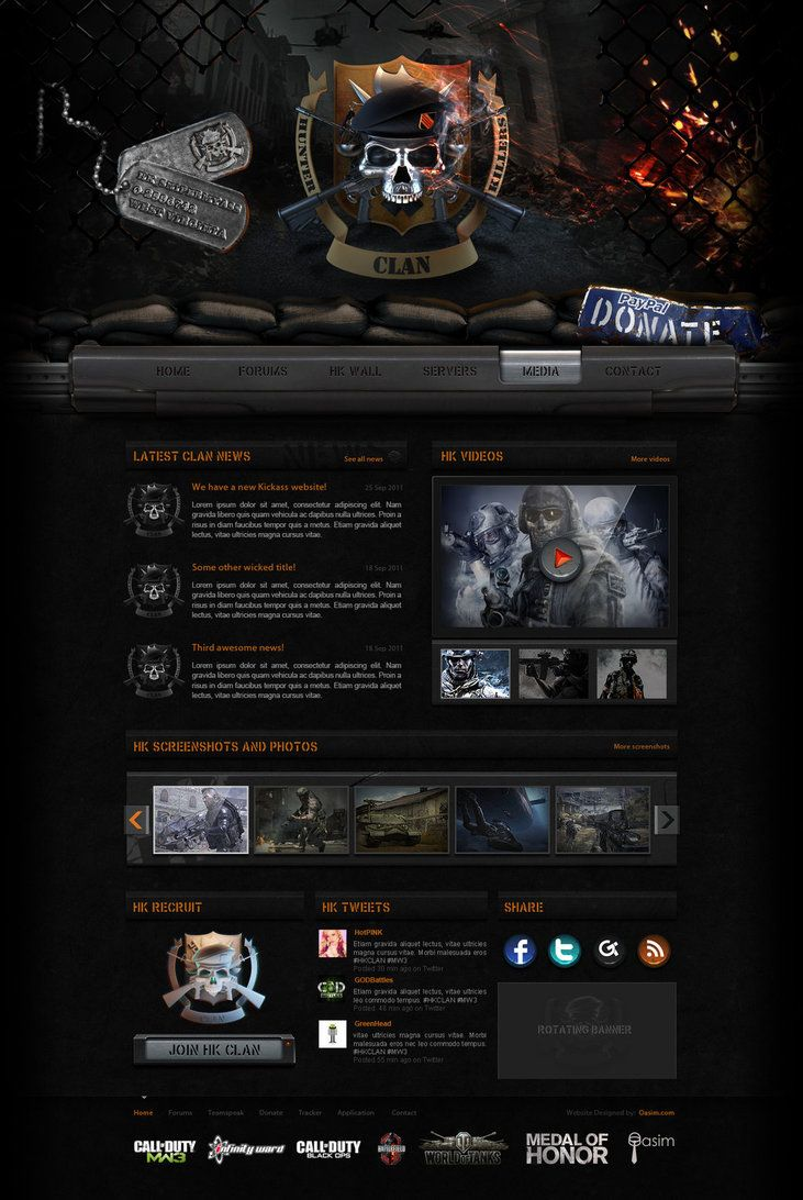 38 best gaming websites images on pinterest website designs working on the hunter killers website was a lot of fun especially doing the research for the designing the logo and the website building a website for sciox Choice Image