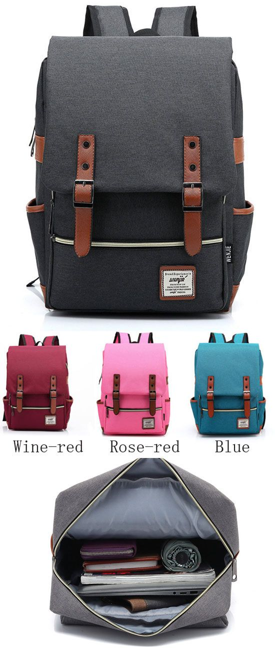 My sister like the black ! I like the red! Which color is better? Vintage Canvas Travel Backpack Leisure Backpack&Schoolbag #backpack #bag #leisure #school #rucksack #cute