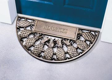 Bronze Personalized Pineapple Doormat - tropical - doormats - Coco Mats n' More