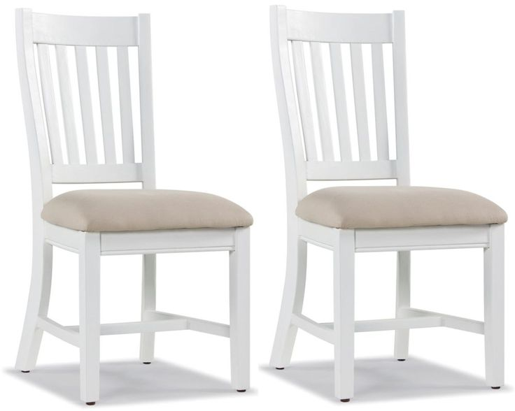 Rowico Lulworth Slatted Back Dining Chair with Neutral Seat Pad (Pair)