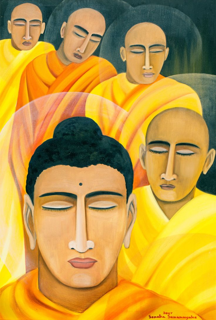 'The way of The Buddha' by Senaka Senanayake, 2007. Oil on canvas. (1900×2816)