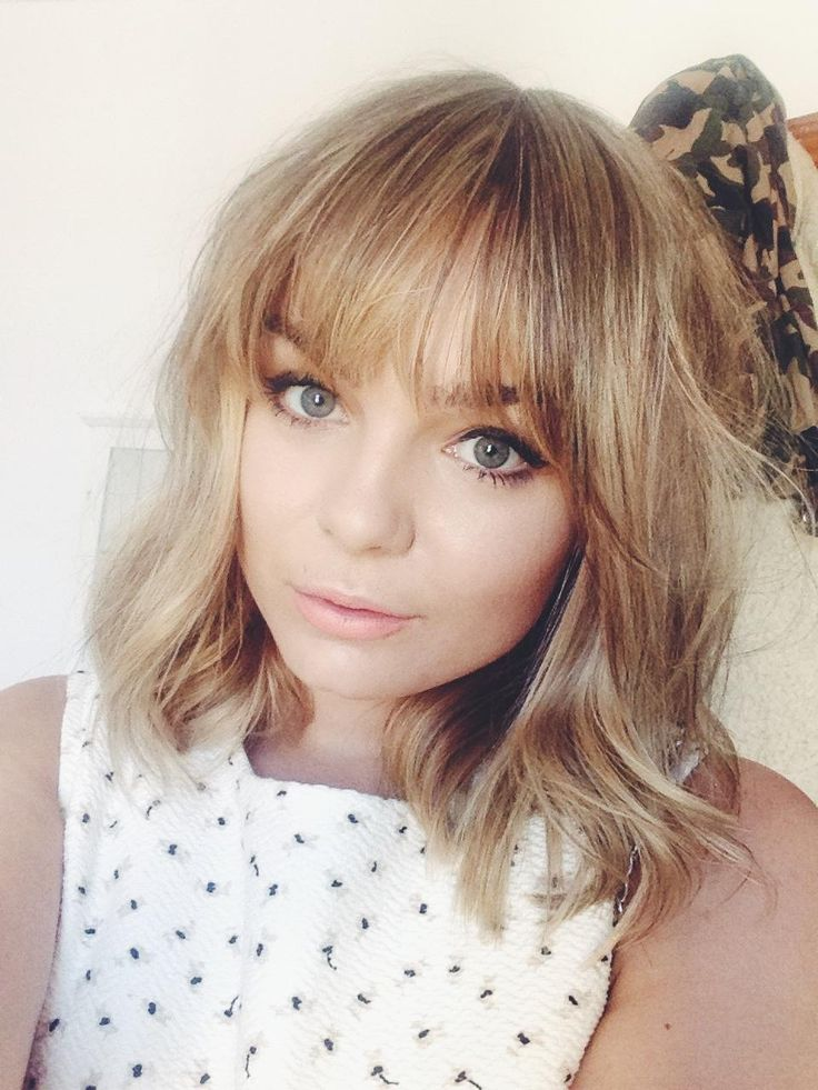 Best 25+ Long Bob Bangs Ideas On Pinterest