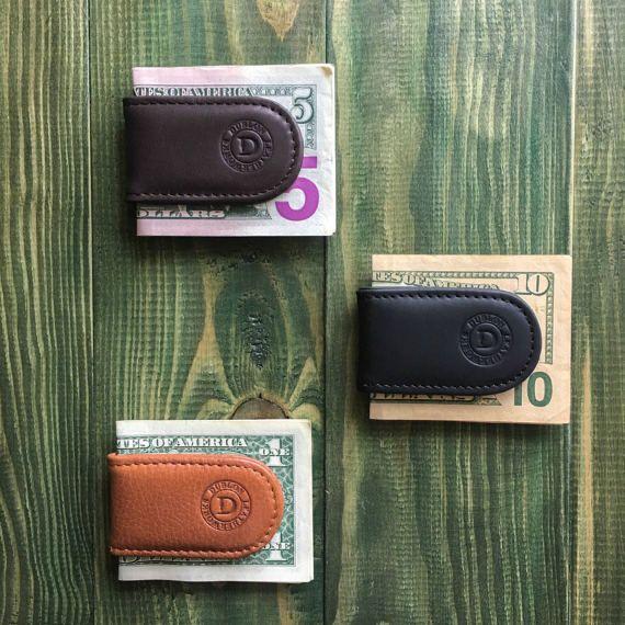 Money clip leather money clip magnetic money clip by DublonLeather