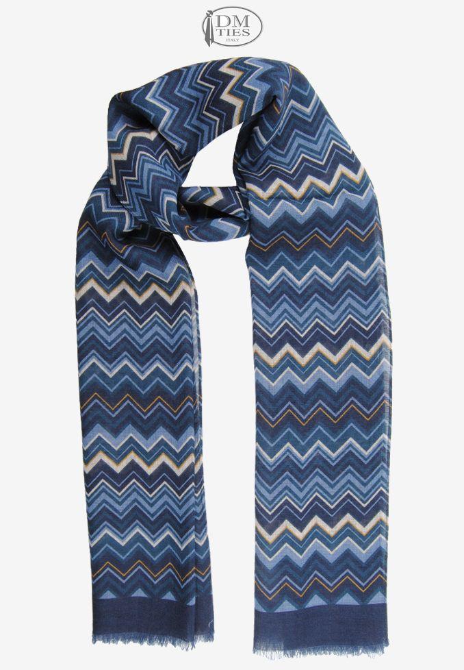 0SCZZ17c - Sciarpa lana blu - Sciarpe UOMO - Sciarpe Uomo/Donna
