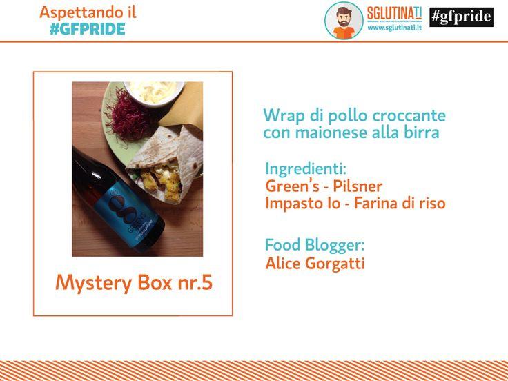 Mancano solo 3 giorni all'inizio del Gfpride - glutenfreepride Eccoci pronti a svelarvi la penultima Mystery box, nr.5! Alice Gorgatti di mangiamo.celi ha ricevuto la farina di Senzaltro Prodotti Senza Glutine e Birre Green's e ha realizzato dei gustosissimi Wrap di Pollo con maionese alla birra! Bravissima!  http://sglutinati.it/blog/cat/news/post/aspettandoilgfpridemysterybox5/
