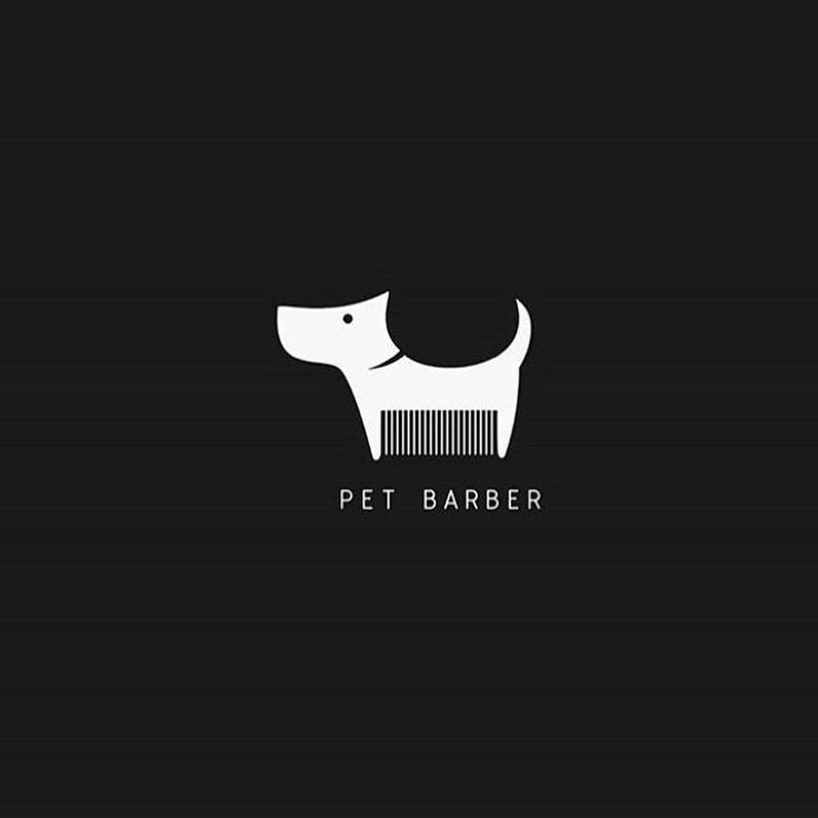 "thedesigntalksapp: ""Pet barber logo by @fresh_southpaw  Follow us to get best…                                                                                                                                                     More"