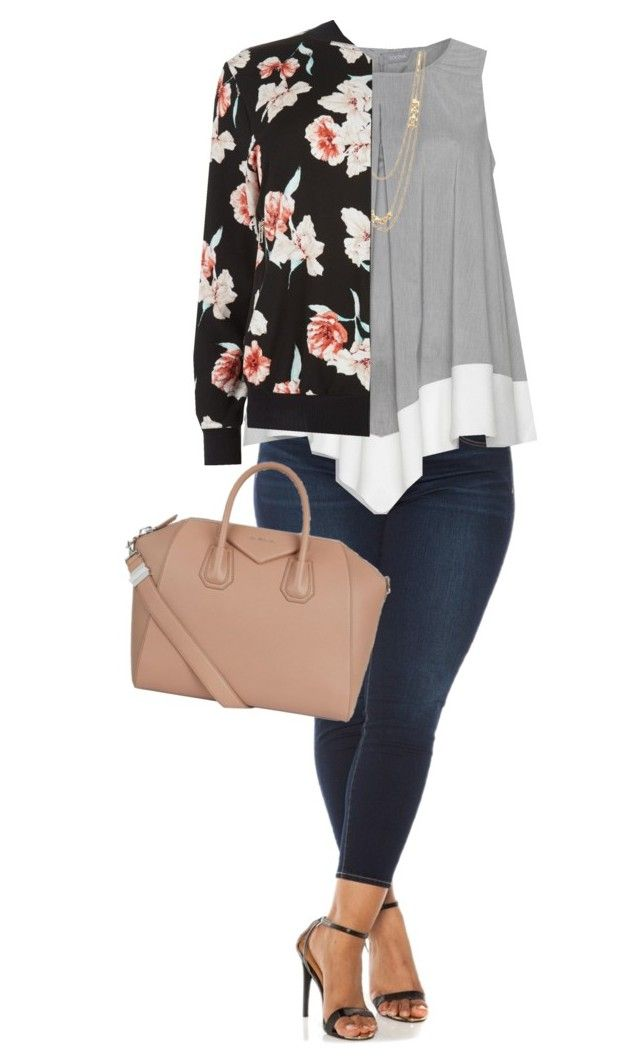 Happy Sunday y'all! by joannakirk on Polyvore featuring New Look, Evans, Givenchy, Gorjana and plus size clothing