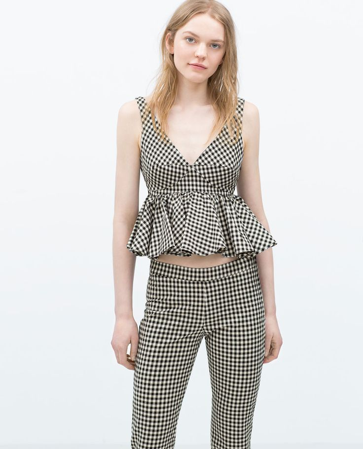 Image 2 of GINGHAM TOP from Zara