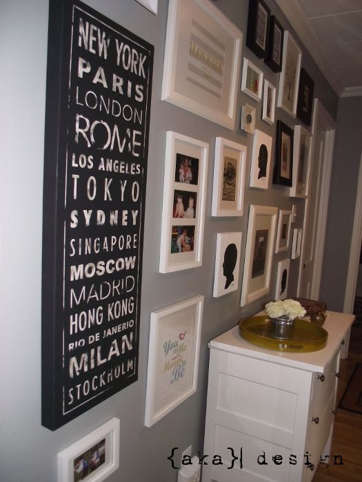 Gallery Wall - includes silhouettes