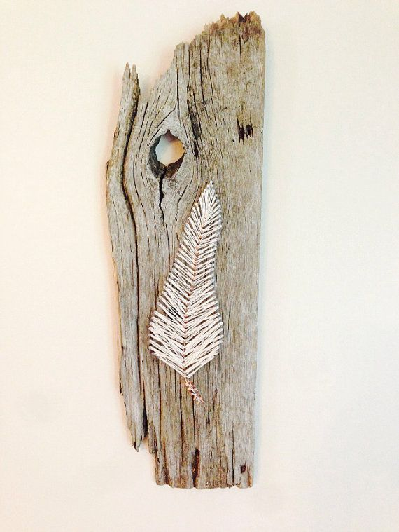 Feather String Art  rustic decor by NorthernStringArt on Etsy, $40.00