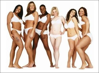 I am really sick of all the 'perfect' bodied pictures of women in swimsuits on Pinterest...ex. Look like me in 27 days (with the abs of steel).  Here is what real women look like!! Love your curves women!