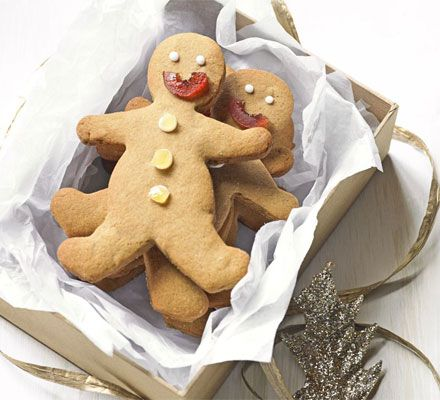 Double ginger gingerbread men - with ginger