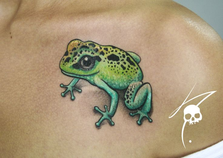 frog color tattoo