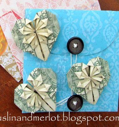 DIY Dollar hearts - Valentine's day origami project // Pénz szívecske - kreatív ajándék papírhajtogatással // Mindy - craft tutorial collection // #crafts #DIY #craftTutorial #tutorial