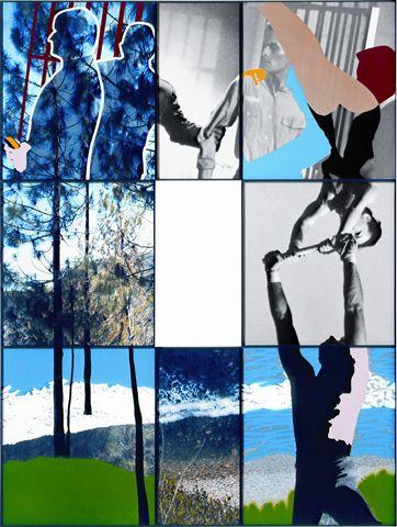 John Baldessari Junction Series: Landscape, Seascape, Prisoner, and Acrobats