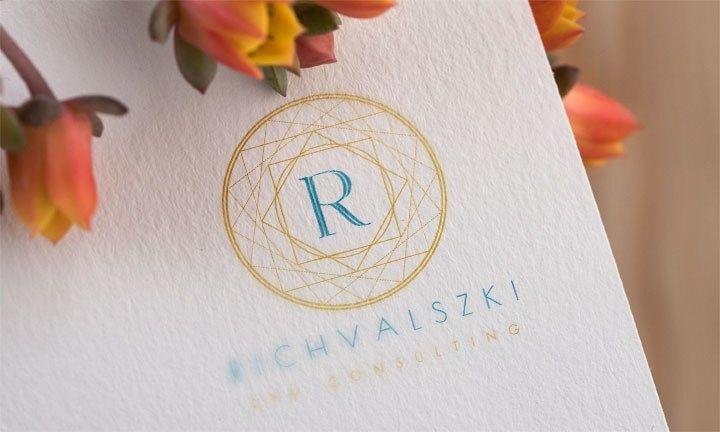 logo gold, spa consulting logo, logo R, logo gold-blue, logo symbol, rounded logo