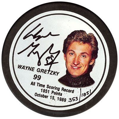 Wayne Gretzky Autographed LA Kings Photo Hockey Puck PSA/DNA . $149.00. This is a LA Kings Hockey Puck that has been hand signed by Wayne Gretzky. The autograph has been authenticated by PSA/DNA and comes with their sticker and matching certificate.